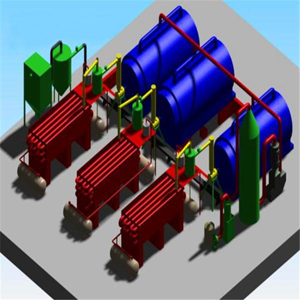 China 30T waste tyre pyrolysis plant