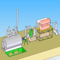 Cheap 10T Waste Tyre Pyrolysis Plant for sale