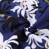 Cheap Tencel Linen Floral Printing Fabrics with Low MOQ for sale
