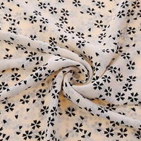 Buy cheap 100% Viscose Floral Print Crepe De Chine Fabric from wholesalers