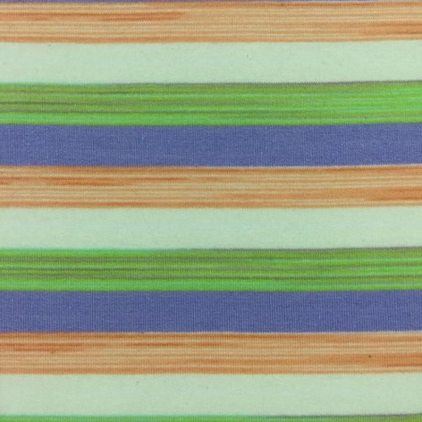 China 32S cotton elasstic auto-large colored-yarn dyed stripes french terry