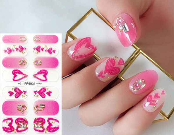 China Part Hot Stamping Imitation Diamond 3D Nail Stickers