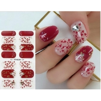 Cheap Part Hot Stamping Glass Diamond 3D Nail Stickers for sale