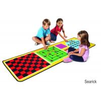 Cheap Melissa & Doug 4-in-1 Game Rug (78.5 x 26.5 inches) - 4 Board Games, 36 Game Pieces for sale