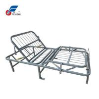 China Foldable Metal Platform Bed Frame For Manual Home Care on sale