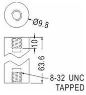 Cheap PCB Support Round Tapped Nylon Spacer for sale