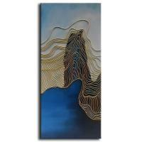 Buy cheap Artwork Handpainted Golden Line Canvas Wall Art Decor CA0134ABC from wholesalers