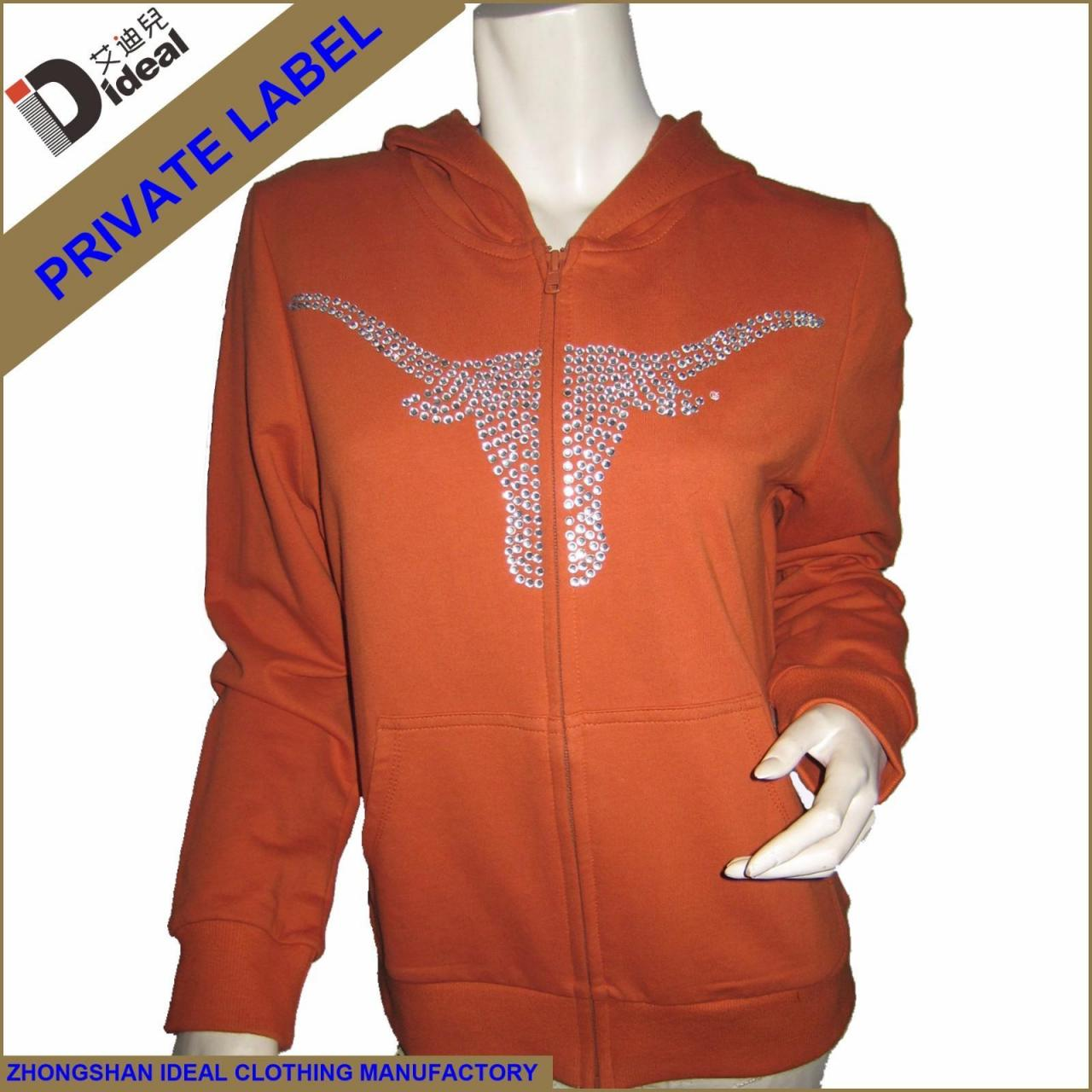 Buy cheap Hoodie Baby French Terry Cotton Full Zipper Women Hoodies from wholesalers