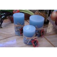 China Ocean series candles Blue ocean pillar candles on sale