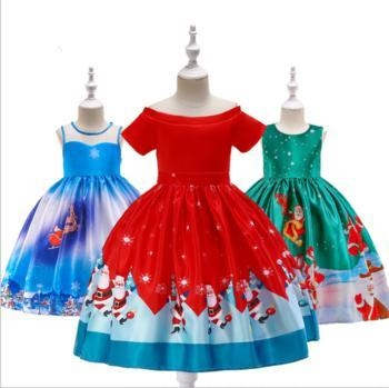 Quality Lovely Baby Frock Design Pictures Girls Party Wear Christmas Dresses For Little Girls SD0 wholesale