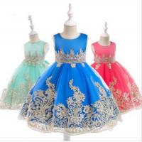 Cheap Wholesale Baby Frock Latest Kids Clothing Lace Frock Designs Wedding Party Bridesmaid for sale