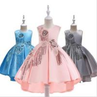 Cheap New Design Hot Sell Latest Children Dress Designs Girls Boutique Clothing Lace Elegant for sale