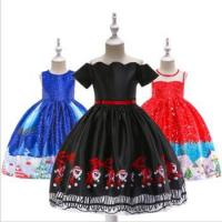 Cheap Child Baby Dress Model Baby Winter Christmas Formal Party Wear Lovely Printed Girl Fashion for sale