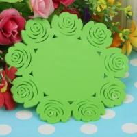 Buy cheap Silicone Cup Coaster Colorful Flower Lace from wholesalers