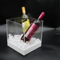 clear acrylic LED ice bucket for champagne