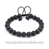 Cheap Men Women Lava Rock Bracelet with Essential Oil Diffuser Beads Natural Healing Balancing Stone for sale