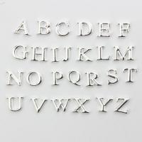 Cheap Silver Alphabet Letters Floating Charms for sale