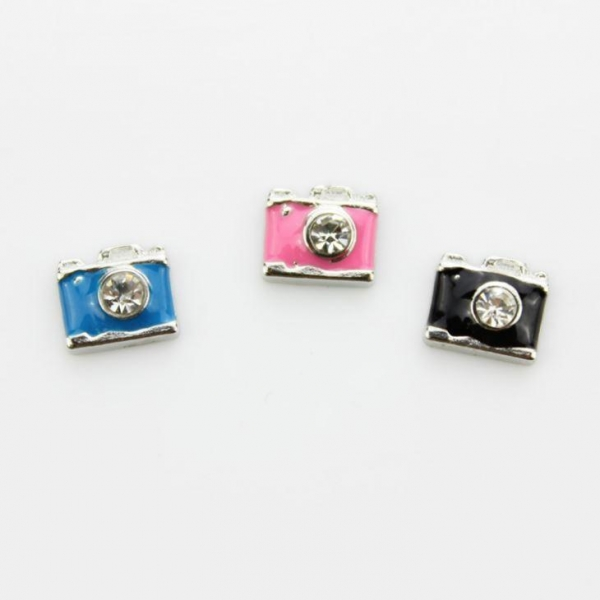 Quality Crystal Camera Floating Charm wholesale