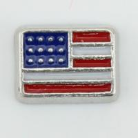 Cheap American Flag Floating Charm for sale