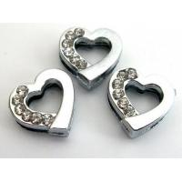 Cheap 8mm Heart Slide Charms DIY for Love for sale