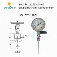 China WTYY-1021 integrated remote transmission bimetal thermometer on sale