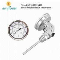 China WSS-481 adjustable angle any angle bimetal thermometer on sale