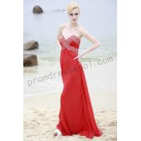 Cheap Red v-neck strapless a-line floor-length tencel prom dress B0blb for sale