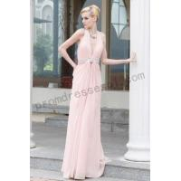 Cheap [On sale]pink deep-v-neck backless chiffon red carpet prom dress-B0bse for sale
