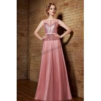 Cheap 2015 Pink Sweetheart Sequins Tulle A-Line Promdress S861 for sale