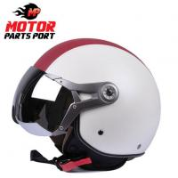China ECE Approved White Open Face Helmet With Visor on sale
