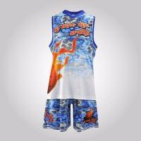 China Your Own Latest Jersey Color Blue College Customize Basketball Uniform Design Template on sale